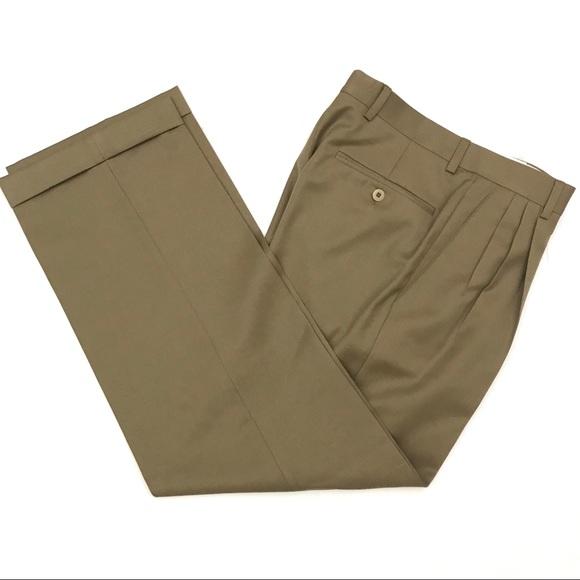 8dea3067ed Zanella 29x28 Alter Wool Pleated Cuffed Dress Pant
